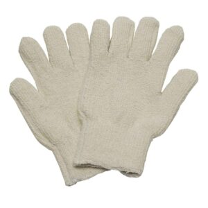 Woven heat resistant oven gloves for bakeries
