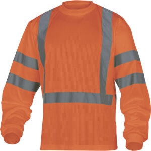 High Visibility long sleeve shirt MACH cotton polyester 200gm