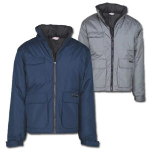 Waterproof jacket Polyester grey/navy FAGEO